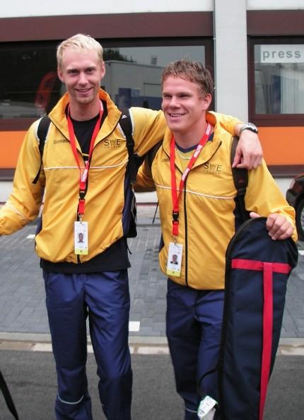 Johannes och Nicklas Andersson vid VM i Duisburg, 2007
